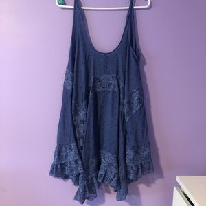 Free People Blue Lace Bell Dress